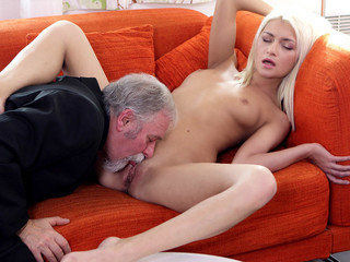 Lucky Tanya finds out her old goes young boss also knows how to lick pussy